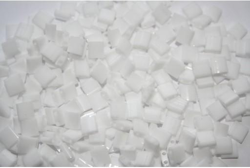 Miyuki Tila Beads Opaque White 5mm - 5gr