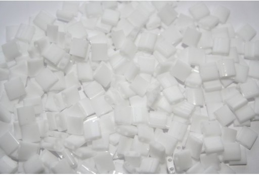 Perline Miyuki Tila Opaque White 5mm - 5gr