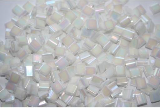 Perline Miyuki Tila White Rainbow Luster 5mm - 5gr