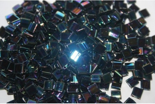Miyuki Tila Beads Iris Medium Blue 5mm - 5gr