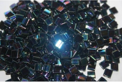 Perline Miyuki Tila Iris Medium Blue 5mm - 5gr