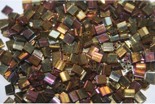 Perline Miyuki Tila Iris Metallic Gold 5mm - 5gr