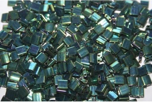 Perline Miyuki Tila Iris Metallic Green 5mm - 5gr