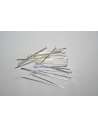 Platinum Plated Headpins 2,4x0,7mm - 100pcs