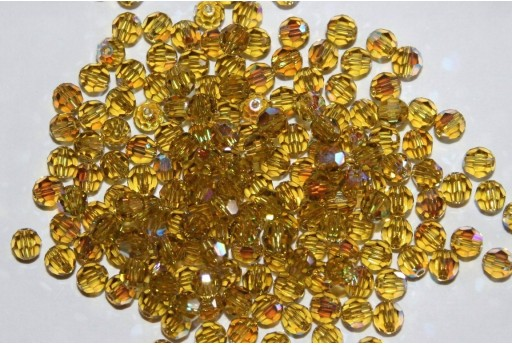 Round Swarovski Lime AB 4mm - 10pcs