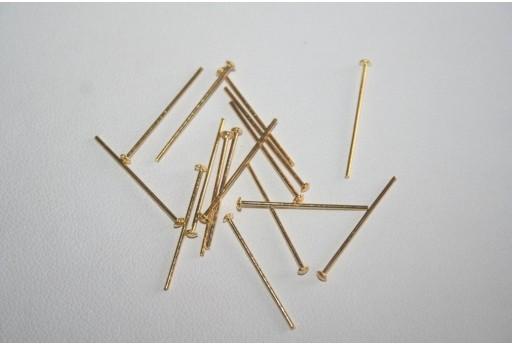 Chiodini Colore Oro 2,4x0,7mm - 100pz