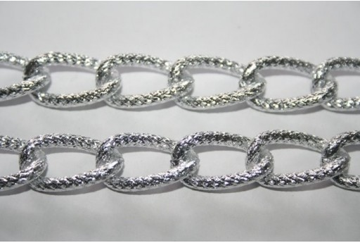 Aluminium Oval Shining Trace Chain 21,8x12,8mm - 1mt