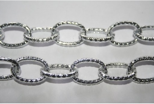 Aluminium Oval Shining Trace Chain 20x14mm - 1m