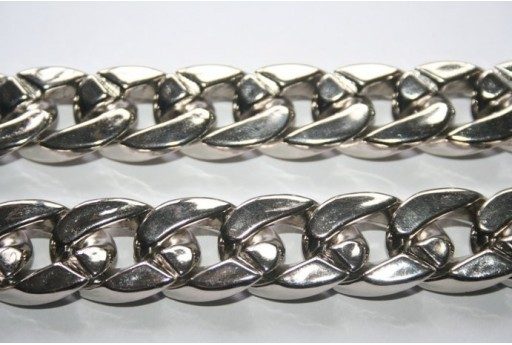 Aluminium Oval Chain CCB 24x17mm - 50cm