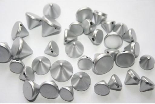 50 Perline Acrilico Argento Mix Forme AC60