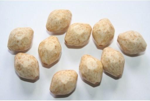 Perline Acrilico Giallo Ovalina Sfaccettata 16x12mm - 16pz