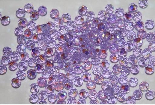 Round Swarovski Violet AB 4mm - 10pz