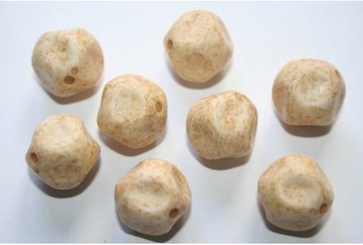 Perline Acrilico Giallo Sfera Martellata 16mm - 12pz