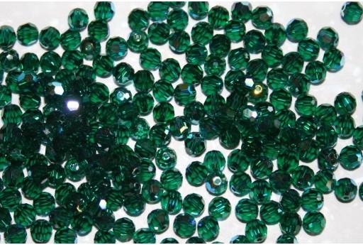Round Swarovski Emerald AB 4mm - 10pz
