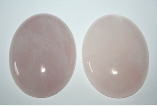 Cabochon Quartz Pink Oval 30x40mm - 1pz