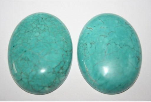 Cabochon Magnesite Turquoise Oval 30x40mm - 1pz