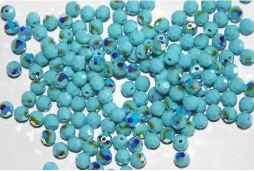 Round Swarovski Tourquoise AB 4mm - 10pcs