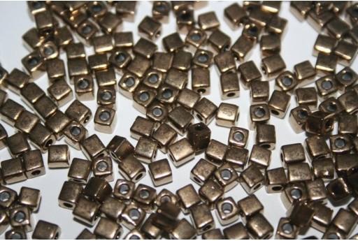 Perline Miyuki Cubo Metallic Bronze 4x4mm - 10gr