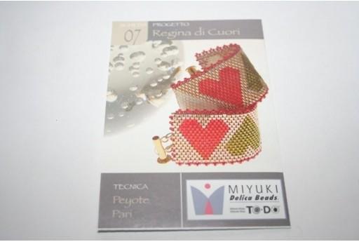Miyuki Beading Pattern Queen of Hearts 07