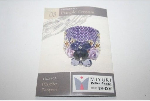 Miyuki Beading Pattern Purple Dream Ring