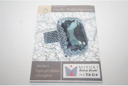 Miyuki Beading Pattern Rectangle Ring 13