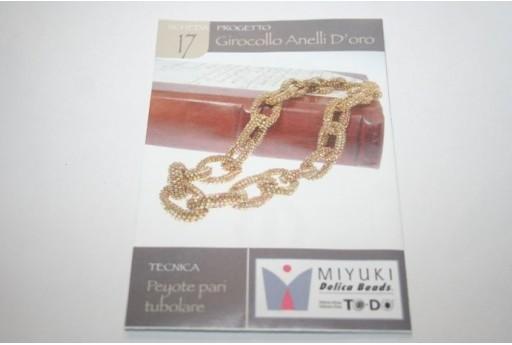 Miyuki Beading Pattern Golden Rings Necklace 17