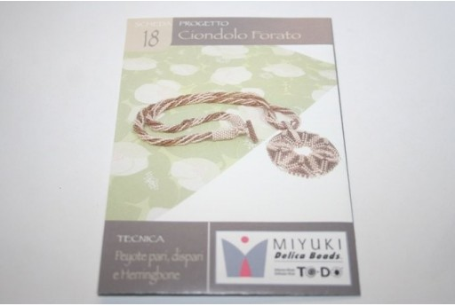 Miyuki Beading Pattern Necklace with Round Pendant 18