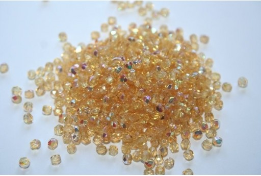 Perline Mezzi Cristalli Medium Topaz AB 3mm - 60pz