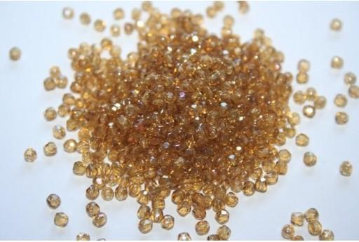 Fire Polished Beads Twilight-Medium Topaz 3mm - 60pz