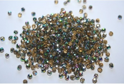 Perline Mezzi Cristalli Vitral-Medium Topaz 3mm - 60pz