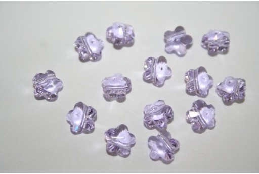 Flower Bead Swarovski Violet 8mm - 2pz