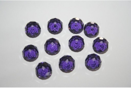 Swarovski Briolette 8mm Purple Velvet - 2pcs