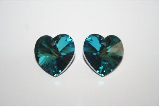 Swarovski Heart Pendant Bermuda Blue 18x17,5mm 6228