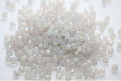 Fire Polished Beads Milky Amethyst 4mm - 60pz