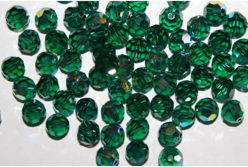 Round Swarovski Emerald AB 6mm - 5pcs