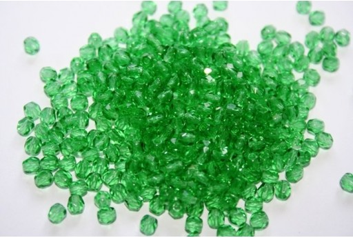 Fire Polished Beads Prairie Green 4mm - 60pz