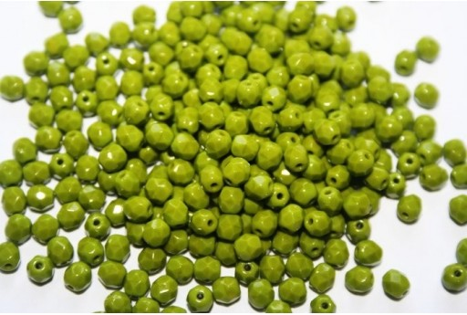 Perline Mezzi Cristalli Opaque-Olive 4mm - 60pz