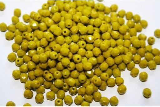 Fire Polished Beads Opaque-Olivine 2 4mm - 60pz