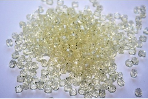 60 Perline Mezzi Cristalli 4mm Crystal Col.00030