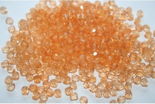 Perline Mezzi Cristalli Coated Light Orange 4mm - 60pz