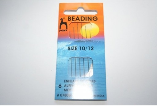 Pony Beading Needles Size 10/12 - 6pcs