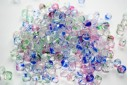 Perline Mezzi Cristalli Crystal/Color 6mm - 30pz
