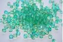 Perline Mezzi Cristalli Crystal Dual Coated-Green/Yellow 6mm - 30pz