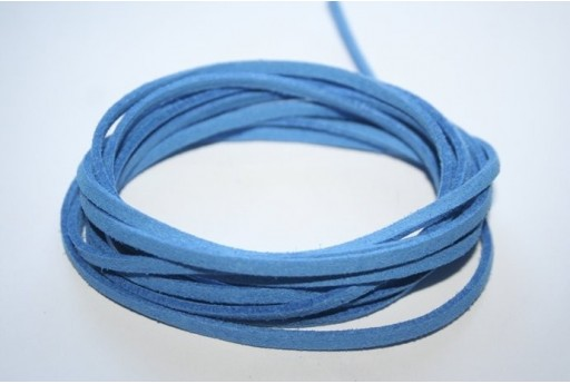 Suede Alcantara Cord 3x1,5mm Light Blue - 2m