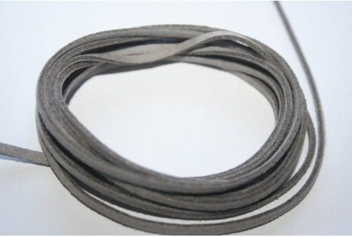 Filo Alcantara Grigio 3x1,5mm - 2mt