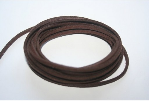 Suede Alcantara Cord 3x1,5mm Brown - 2m