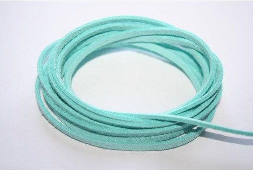Filo Alcantara Aquamarine 3x1,5mm - 2mt