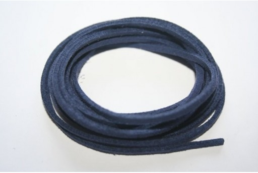 Filo Alcantara Blue 3x1,5mm - 2mt