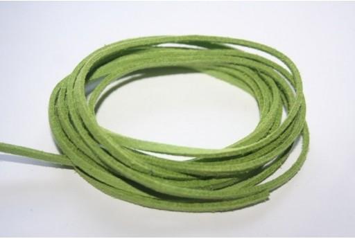 Suede Alcantara Cord 3x1,5mm Green - 2m