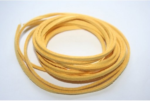 Suede Alcantara Cord 3x1,5mm Yellow - 2m